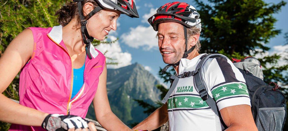 Die schöne Landschaft in Schenna bei Meran bietet sich auch für Zweirad-Fans an